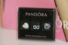AUTHENTIC PANDORA 792103CZ INFINITE LOVE PETITES (mini charms) STERL SILVER