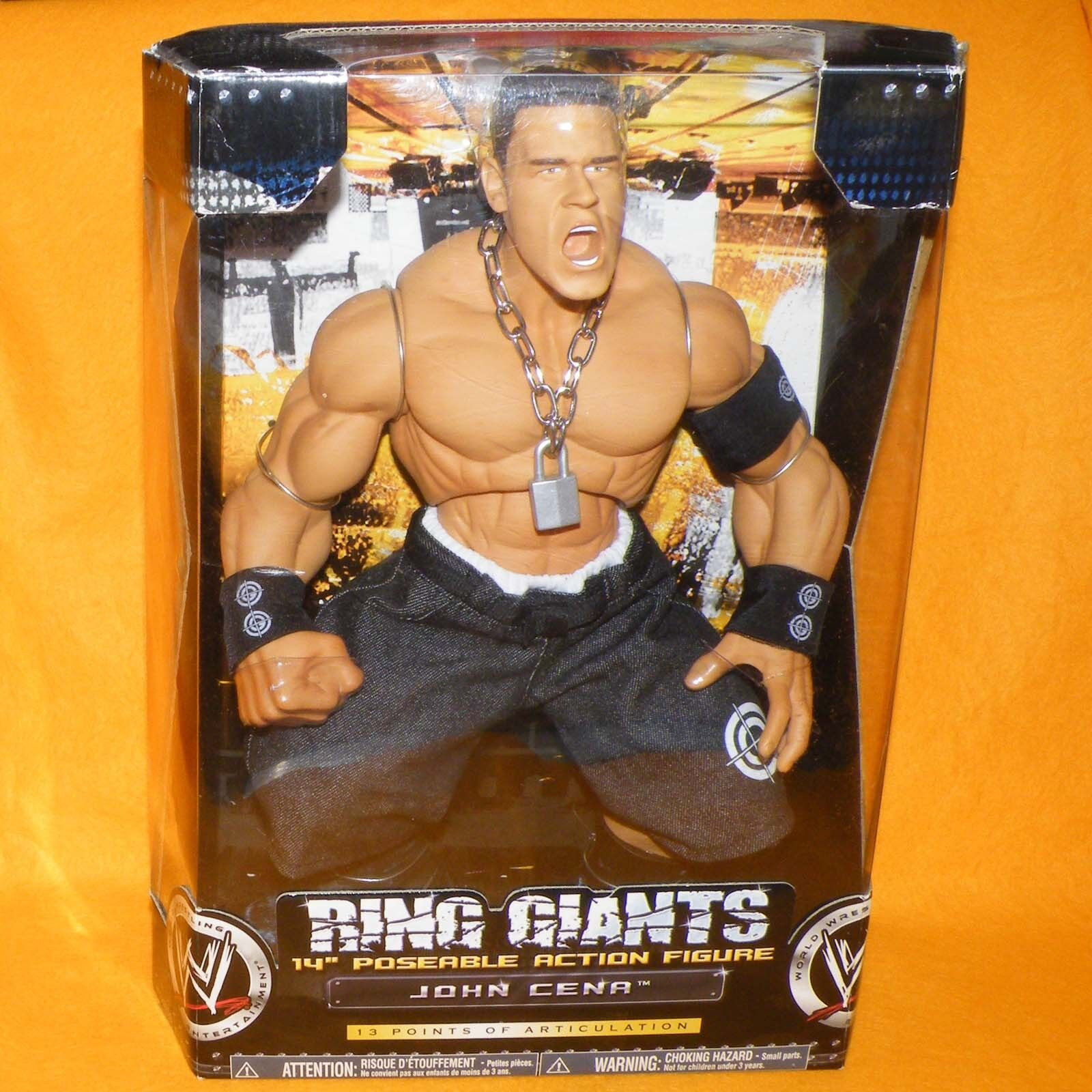 2006 JAKKS WWE RING GIANTS JOHN CENA 14  POSEABLE ACTION FIGURE BOXED SEALED
