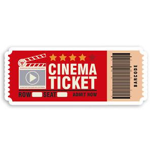 2 x 10cm Fun Cinema Ticket Vinyl Stickers - Movie Lover Laptop Sticker #34521