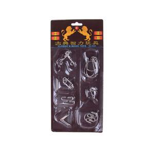 7Pcs-lot-Different-Patterns-3D-Interlocking-Metal-Puzzle-IQ-Brain-Teaser-ToyALQA