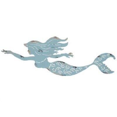 Mermaid Metal Wall Art Rustic Blue Tropical Office Girl Bathroom Home Decor Ebay