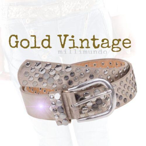 Femmes ceinture rivets ceinture rivets look vintage or 80 85 90 cuir top