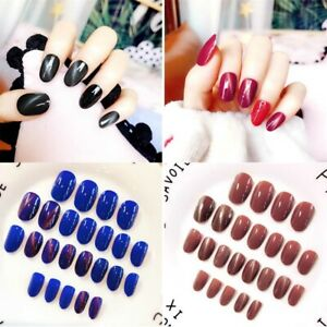 brillant-acrylique-manucure-tips-nail-art-patch-faux-ongles-cat-eye-ongle