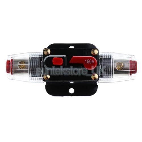 150AMP Manual Reset Circuit Breaker Car Auto Boat Stereo Audio Fuse Holder