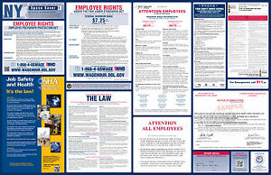 2017 new york state federal labor law poster all on one ebay image is loading 2017 new york state amp federal labor law sciox Choice Image