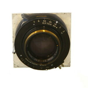 Vintage-Bausch-amp-Lomb-210mm-E-F-f-4-5-Tessar-Ic-in-Betax-No-4-Shutter-UG
