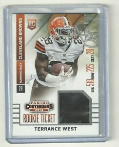 2014 PANINI CONTENDERS ROOKIE TICKET TERRANCE WEST JERSEY CARD RTS ...
