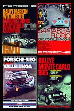RETRO PORSCHE Multi pre1980 CORSA poster stampa