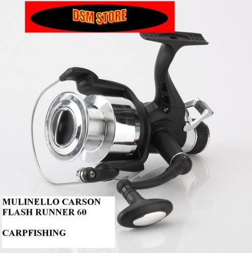 SET 3 MULINELLI CARPFISHING CARSON FLASH RUNNER 60 OFFERTA CARP FISHING BOILIES