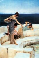Silver Favorites Sir Lawrence Alma-Tadema Canvas Giclee Picture Poster Print