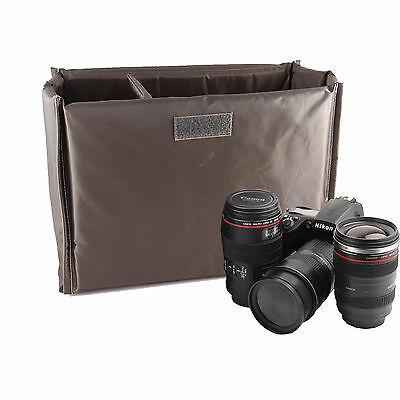 Folding Partition Padded Insert Camera Case For Nikon D3300 D810 D5500 D750