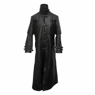 Men/'s Steampunk gothic in pelle Trench Hugh Jackman Van Helsing Cappotto