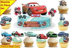 DISNEY CARS Edible Birthday Party Scene Cup Cake Scene Toppers STAND UP CUSTOM