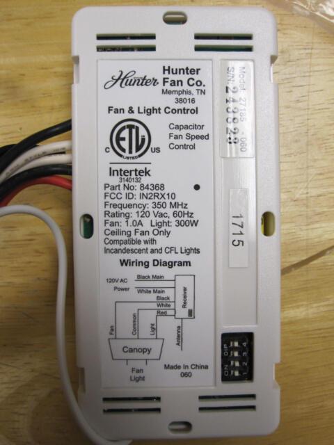 Hunter Ceiling Fan Capacitor Wiring Diagram