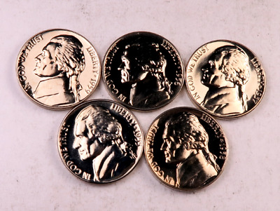 1955+1956+1957+1958+1959 Jefferson Nickel Lot //// Gem Proof *Full Steps-FS*