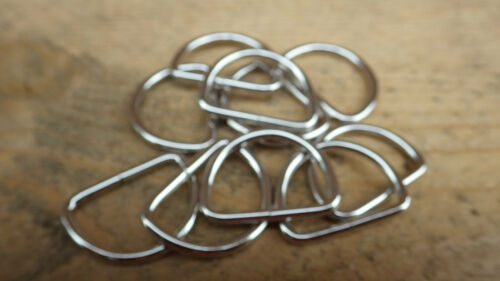 """25 MEDIUM NICKEL PLATED  D RINGS 19mm 3//4/"""" CURTAINS BLIND  LEATHER CRAFT HOBBY"""