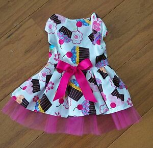 26a758beefe4 Image is loading Small-Cupcake-Party-Dress-Dog-dress-clothes-Puppy-