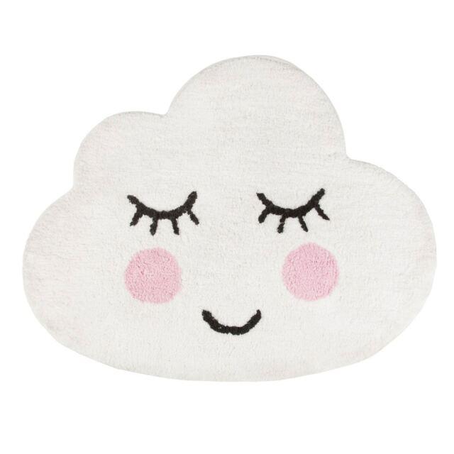 Sweet Dreams Souriant Cloud Sol en Forme de Tapis Chambre D'Enfants Coton Doux