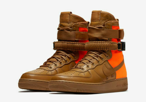 Nike SF Af1 QS Mens Size 10 Desert Ochre Special Field Air Force 1 Orange