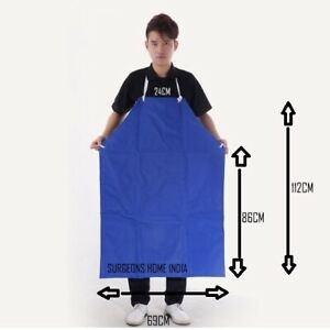 Apron-PVC-With-Front-pocket-Non-Disposable-Waterproof-Blue-Multipurpose