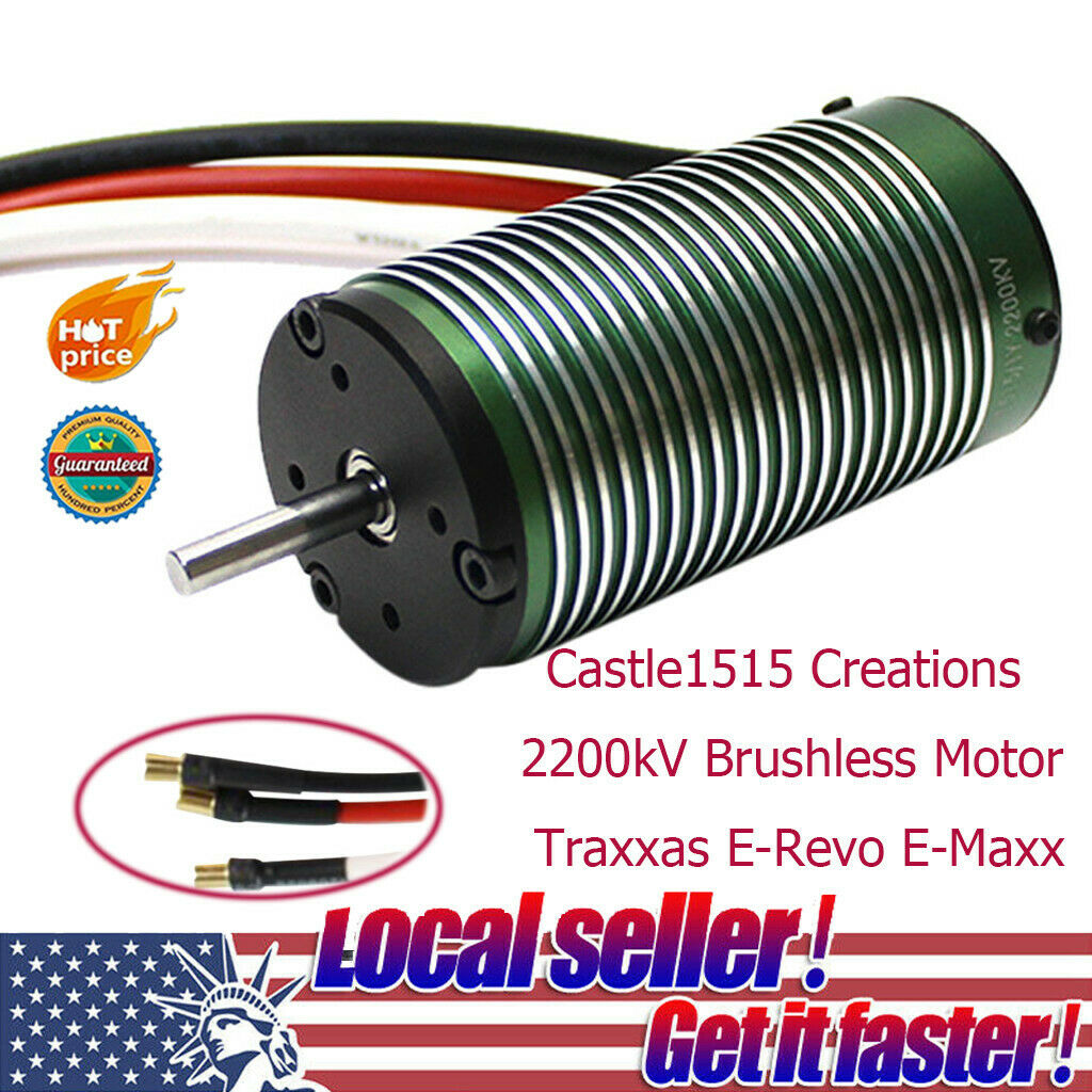 Castle1515 Creations 2200kV 2200kV 2200kV Brushless Motor Traxxas E-Revo E-Maxx For RC CAR CH 867635