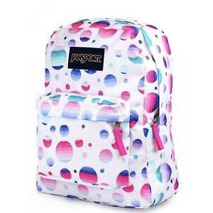27350399e111 Image Is Loading Jansport Superbreak Backpack Ombre Dot School Bag  Js00t50133v