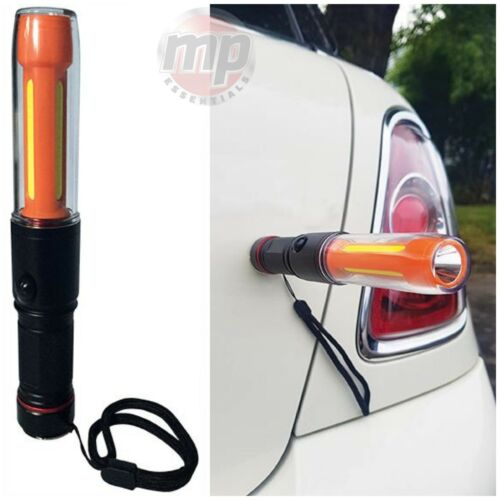 COB LED Pencil Torch With Worklight Lamp & Flashing Car Breakdown Warning Light