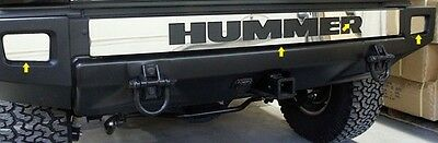 FITS HUMMER H2 2003-2009 STAINLESS STEEL CHROME REAR BUMPER TRIM W/ LOGO CUTOUT
