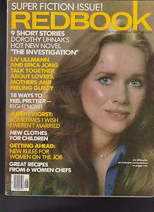 a80a0f8b107ea Details about Redbook Magazine Liv Ullmann Erica Jong Dorothy Uhnak August  1977