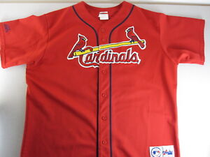 Details about RaRe Players Choice Mark McGwire SEWN Majestic Jersey St Louis Cardinals XL MLB