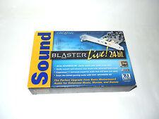 CREATIVE LABS SOUND BLASTER LIVE 24 BIT 7.1 soundcard in box vintage pc hardware