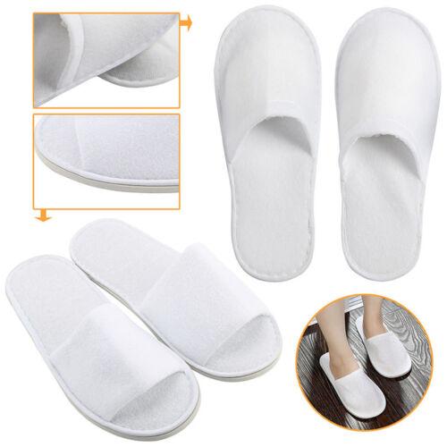 Ouvert Jetables Fermé Paire Chaussures Blanc 1 Spa Chaussons Hôtel 5 Toe Toile Hwn6fIU