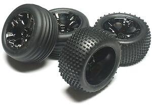 RUSTLER-VXL-TIRES-F-R-Tyres-WHEELS-4-3770-3772A-5576-5563-Traxxas-3707