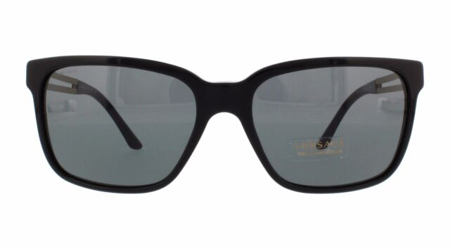 08eed75f23 NWT Versace Sunglasses VE 4307 GB1 87 Black Gold   Gray 58 mm VE4307 GB187