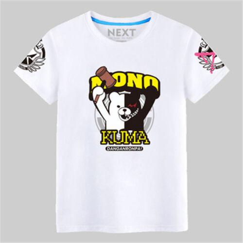 DanganRonpa Monobear Monokuma Black/&White Bear Short Sleeve T-shirt Sweatshirt