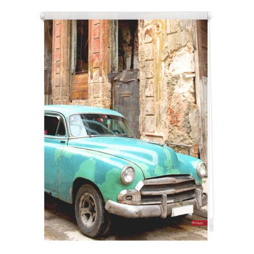blickdicht ohne Bohren Lichtblick Rollo Klemmfix Kuba Türkis Braun Motiv