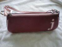 York & Co Red With Pink Trim j Leather Shoulder Handbag new