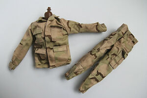 1//6 Scale Uniforms Coveralls 3 Pocket Bag Camo Fit HT B005 Body
