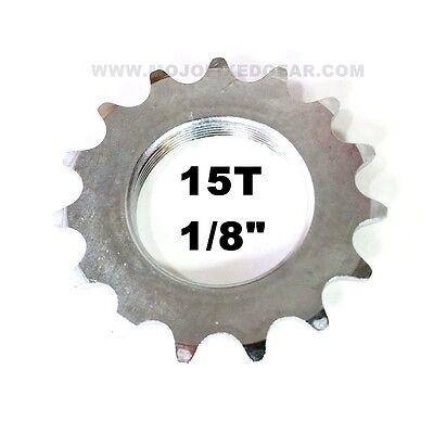 MOJO 17T CNC FIXED GEAR COG /& LOCK RING POLISHED CHROME TRACK 1//8 INCH CNC