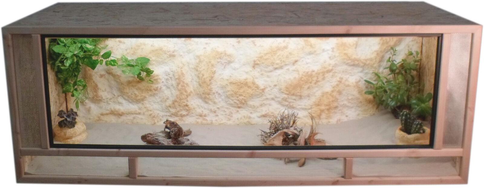 OSB - Holz Terrarium - Front aus massiven Fichtenhholzrahmen - 140x60x60cm