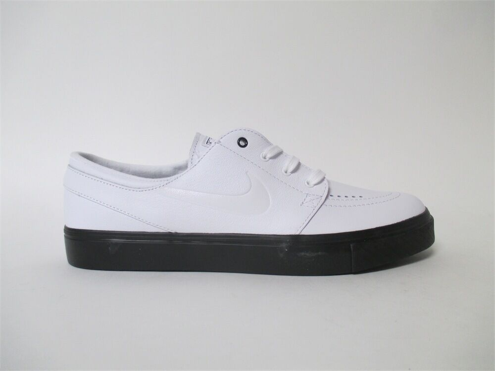 Nike SB Zoom Stefan Janoski SB Premium White Leather Black Sz 9.5 877066-111