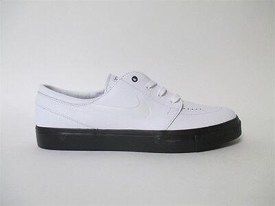 e3c20d9fe71347 Nike SB Zoom Stefan Janoski SB Premium White Leather Black Sz 9.5 877066-111