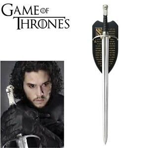 GAME-OF-THRONES-LONGCLAW-HBO-THE-SWORD-OF-JON-SNOW-w-WALL-PLAQUE-Pre-Order