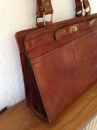 Sac A Superbe Main Cuir Compartiments Nombreux 70 60 Vintage 50 An Besace xwBOOSdZ5q