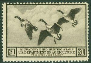 EDW1949SELL-USA-1936-Sc-RW3-Mint-Originale-Gum-Molto-Fresh-Timbro-Catalogo