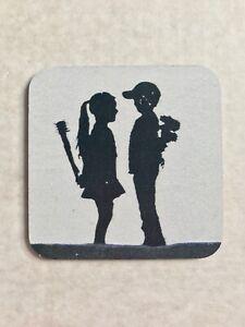 Banksy Print Square Coaster (Brand New) lHMwTtK8-08021352-306419256