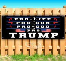 Pro Trump Pro Life Gun God Advertising Vinyl Banner Flag Sign 2020