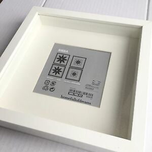 New-Square-Deep-Shadow-Box-Photo-Picture-Frame-White-23x23cm-Scrabble-Display-3D