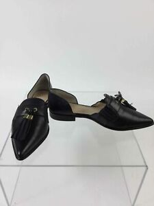 Vince-Camuto-034-Hollina-034-Black-Leather-Pointed-Toe-Tassel-Accent-Flats-8M-38