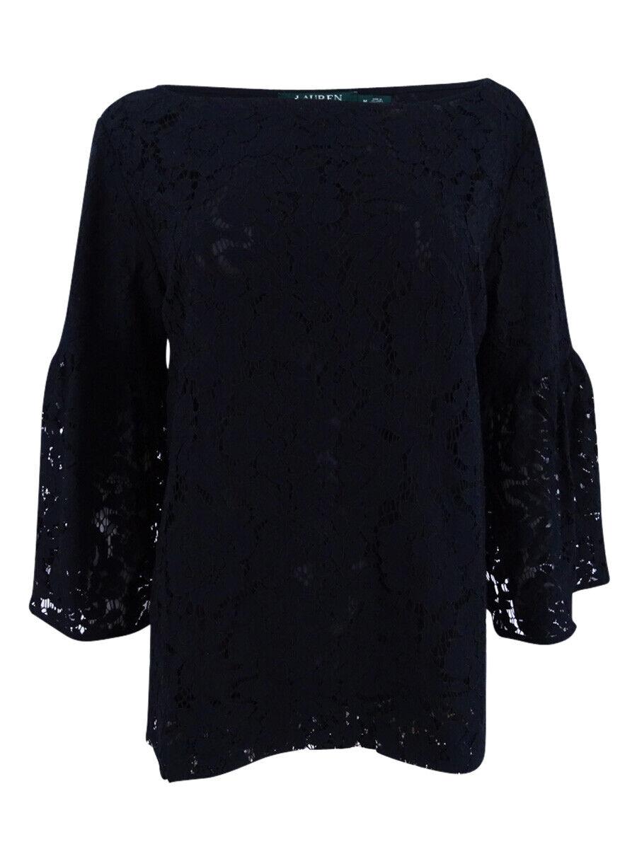 Ralph Lauren azulsa azulsa azulsa Para Mujer Encaje cuello bote (M, Negro) d1ebff